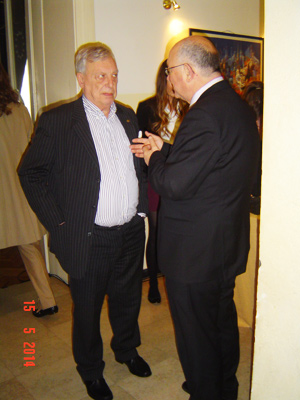 (l-r) Christian D. de Foulay (AALEP) & Mate Granic (former Minister of Foreign Affairs) at the Croatian Lobbyist Conference 2014